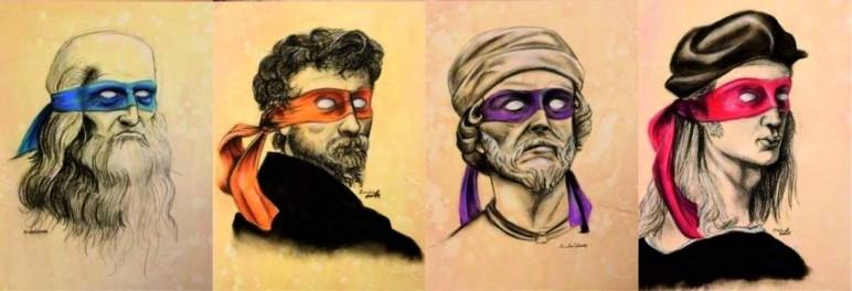 Leonardo, Michelangello, Donatello y Raphaello